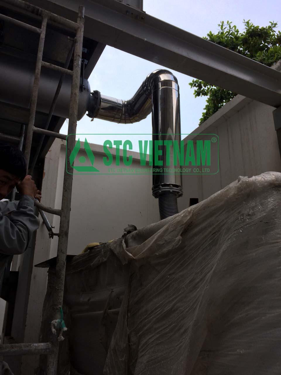 Bảo ôn cách nhiệt ống khói D140