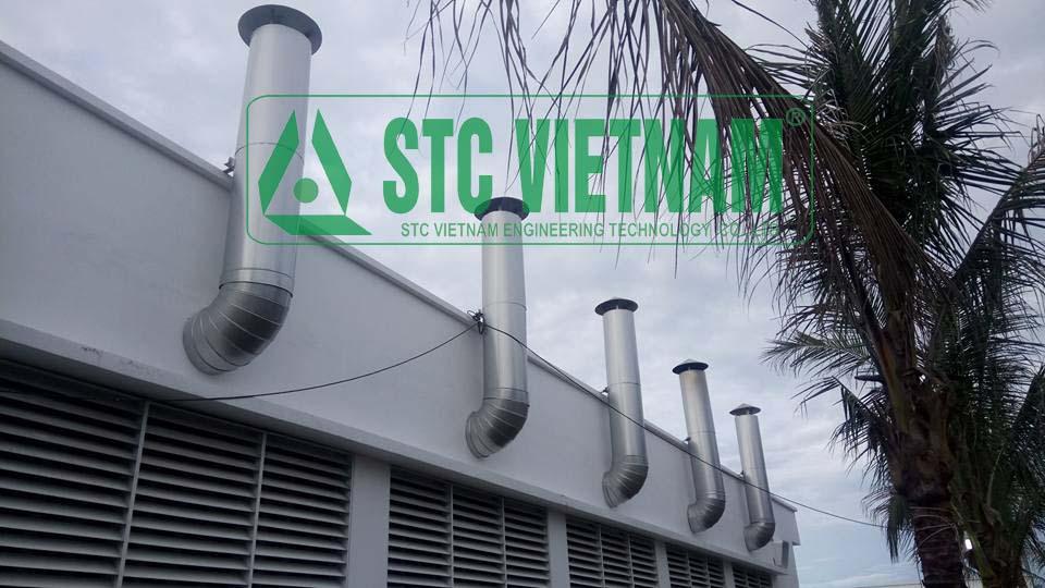 Ống thoát khí thải máy phát điện D400