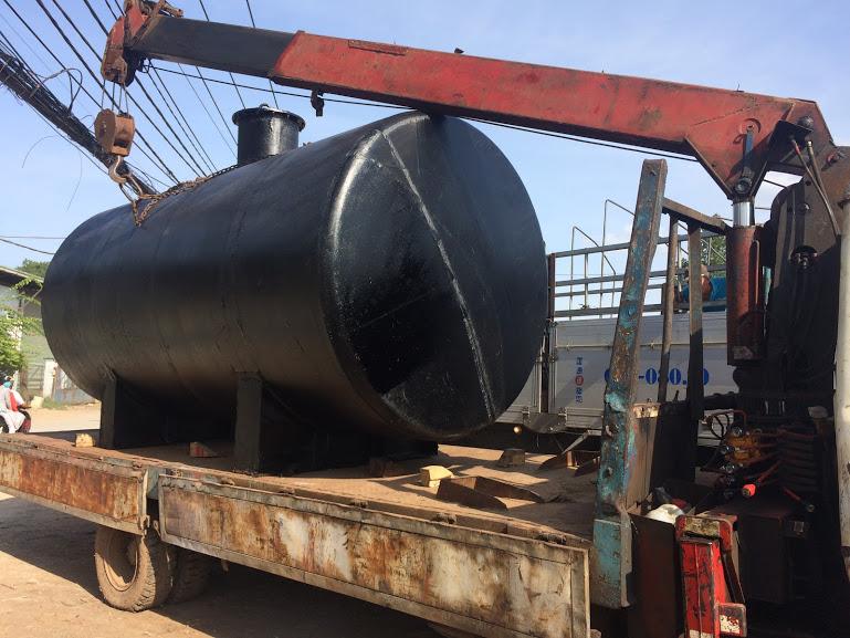 Bồn dầu máy phát điện 10.000 lít (quấn hắc ín)